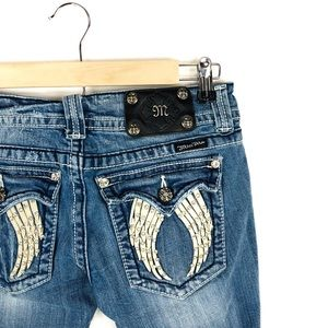 🆕 Miss Me Embellished Wings Skinny Jeans